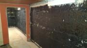 tarred basement walls