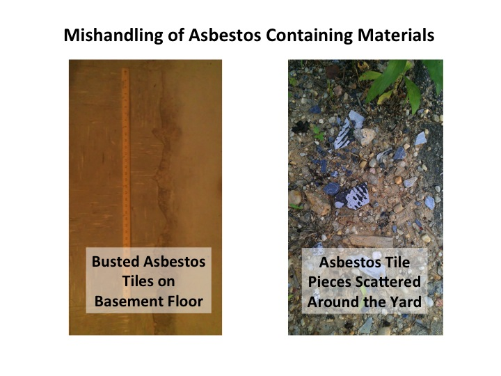 Asbestos Hazard Improperly Handled Basement Waterproofing