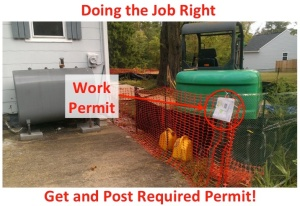 Properly Obtained and Posted Site Work Permit