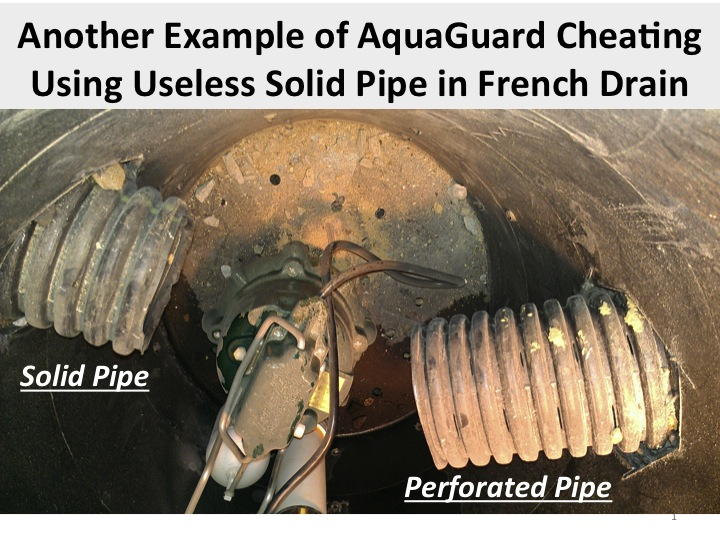 Basement Waterproofing Aquaguard Bungles Drain Tile